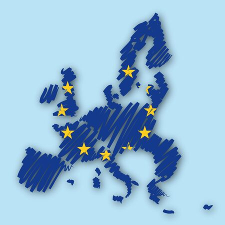 Map sketch Europe photo