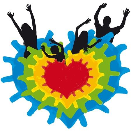 family heart Stock Vector - 10619643