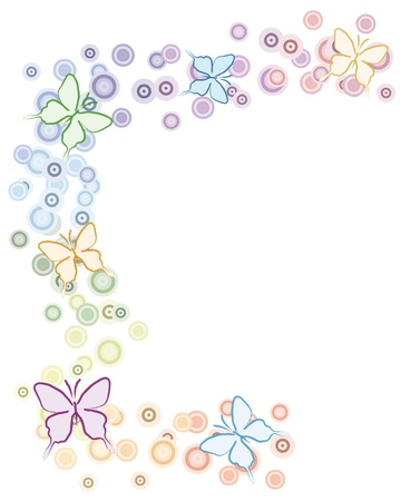background with butterflies Stock Vector - 10619687