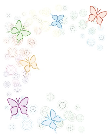 background with butterflies Stock Vector - 10619689