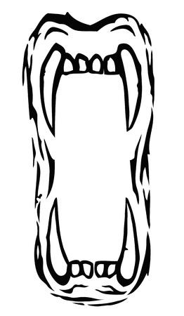 cat open: Mouth feline Illustration