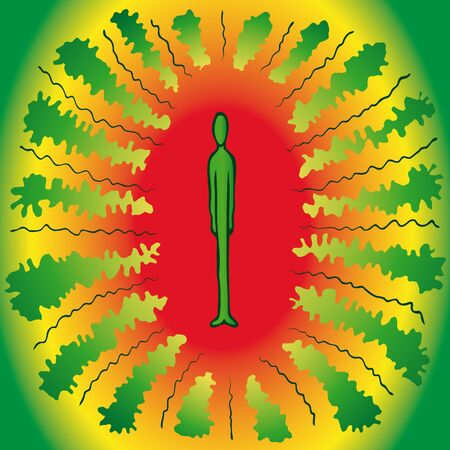curvilinear: psychedelic man