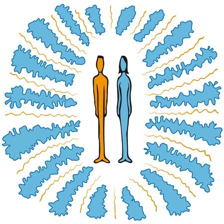 enlightened: couple Illustration