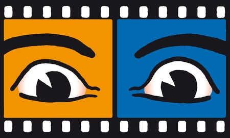 two visions: Eyes on film