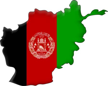 afghanistan: map flag Afghanistan Stock Photo