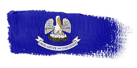 louisiana flag: abrushstroke flag Louisiana Stock Photo