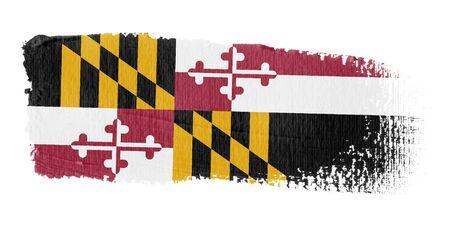 maryland: brushstroke flag Maryland Stock Photo