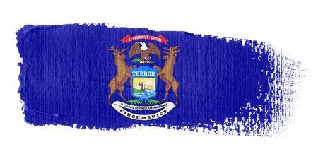 brushstroke flag Michigan Stock Photo - 10619619