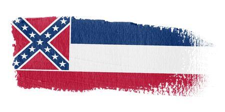 brushstroke flag Mississippi photo