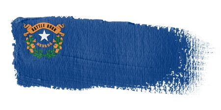 brushstroke flag Nevada photo