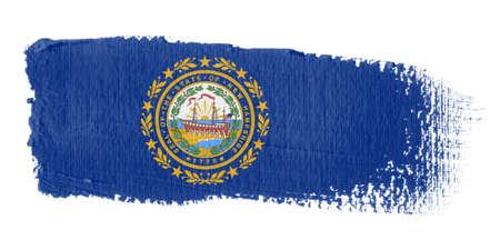 hampshire: brushstroke flag New Hampshire