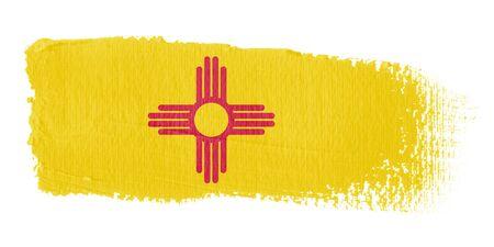 mexico flag: brushstroke flag New Mexico