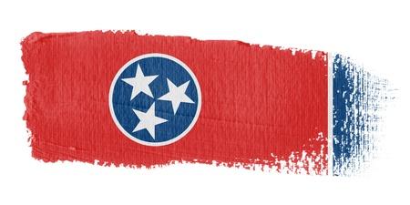 brushstroke flag Tennessee photo