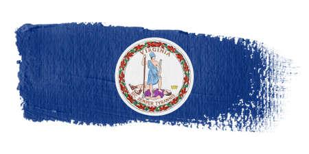 united states flag: brushstroke flag Virginia