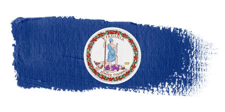 bandera estados unidos: pincelada bandera Virginia