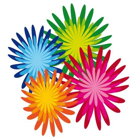 blumen cartoon: Hintergrund mit Blumen
