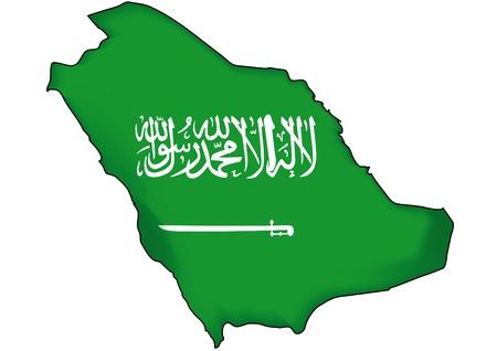 Karte Flagge Saudi-Arabien Vektorgrafik