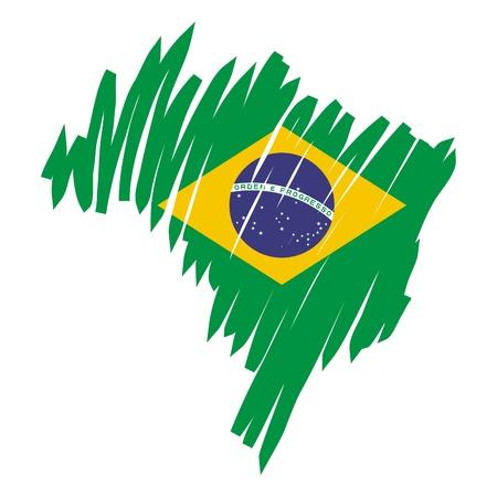 Carte de drapeau du Brésil