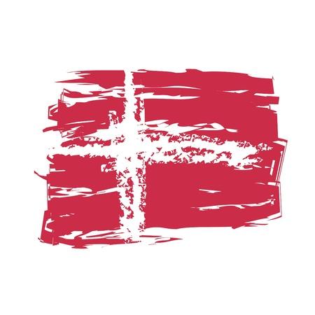 graphing: La bandera de Dinamarca Vectores