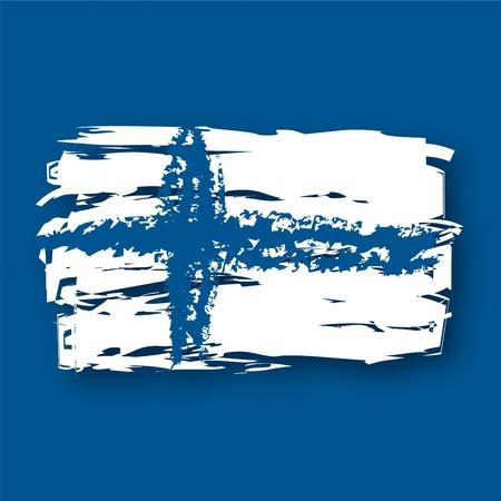graphing: Bandera de Finlandia