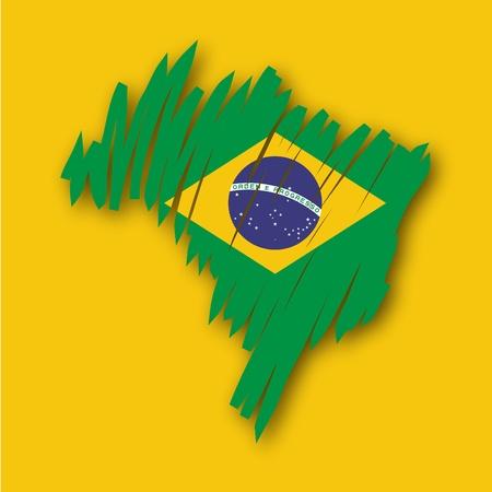 graphing: Mapa de la bandera de Brasil Vectores