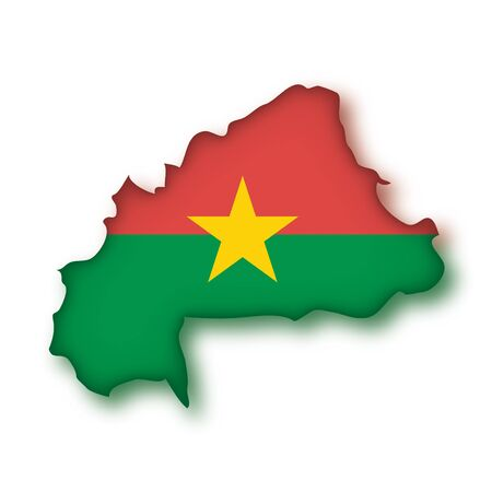 burkina faso: africa african banners Burkina country Faso flag flags geographical geography map maps nation outline outlines people plant schematic stylized  travel  world