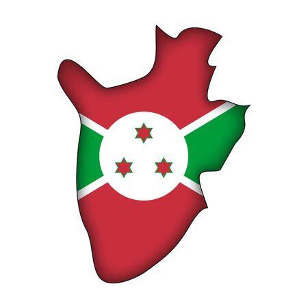 map flag Burundi Stock Vector - 10638074