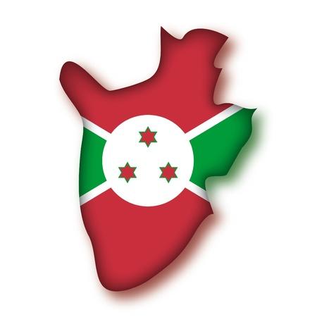 burundi: map flag Burundi
