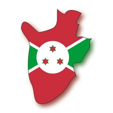 map flag Burundi Vector