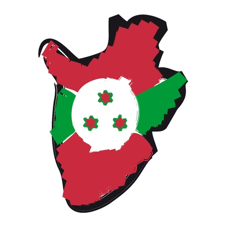 map flag Burundi Stock Vector - 10638036