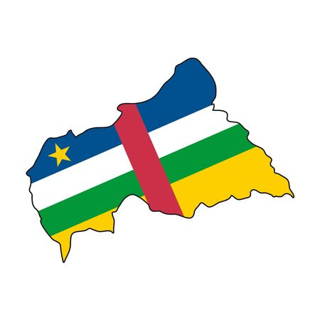 central african republic: map flag Central African Republic