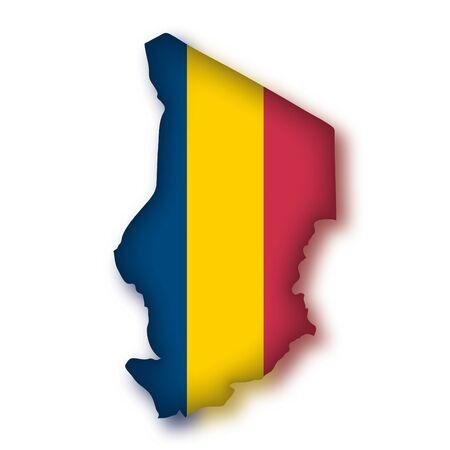 chad: map flag Chad