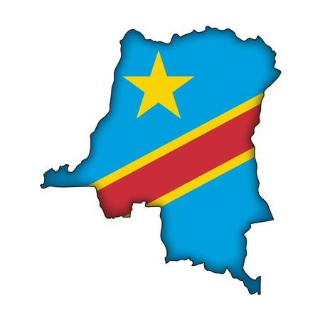 democratic republic of the congo: map flag Democratic Republic of the Congo