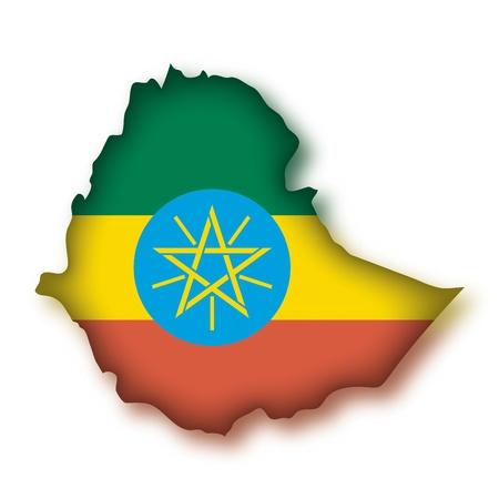 map flag Ethiopia Stock Vector - 10638112