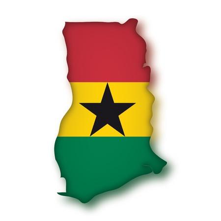 map flag Ghana Vector