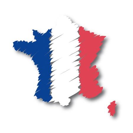 map flag France Vector