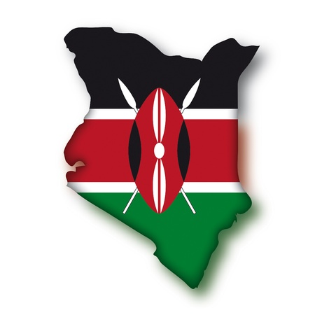 kenya: map flag Kenya