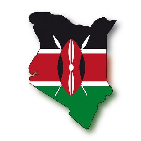 kenya: map flag Kenya