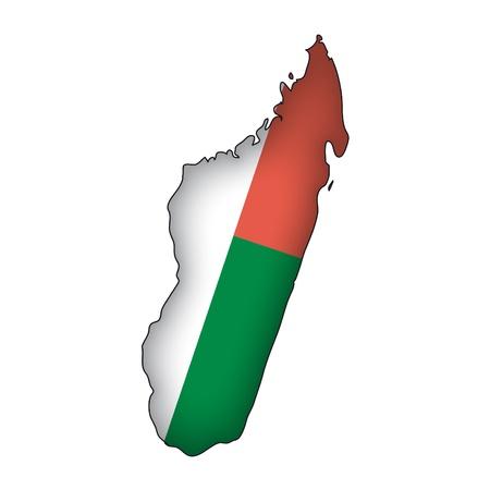 madagascar: map flag Madagascar
