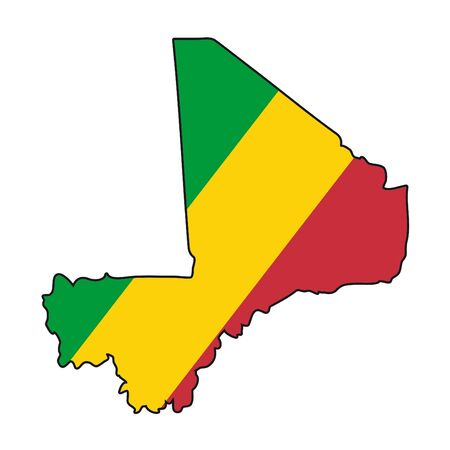mali: map flag Mali Illustration