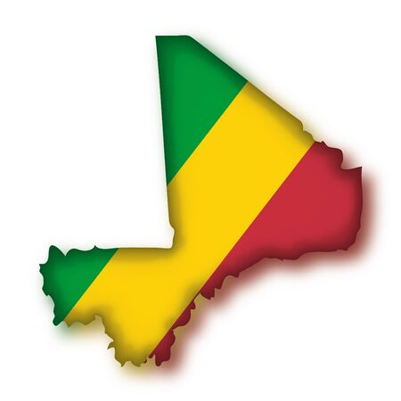 mali: map flag Mali Illustration