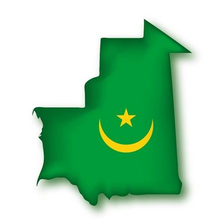 map flag Mauritania Vector