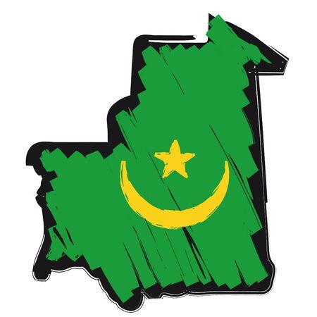 map flag Mauritania Stock Vector - 10638054