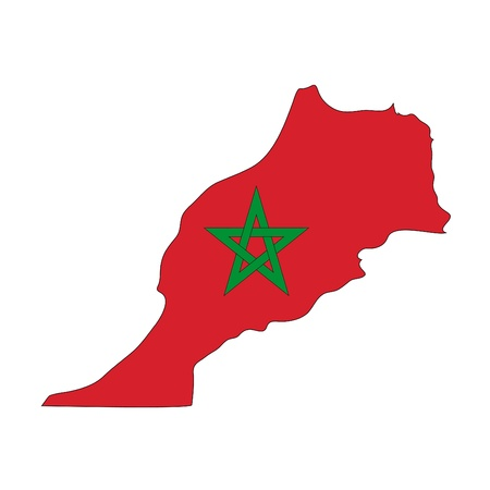 morocco: map flag Morocco