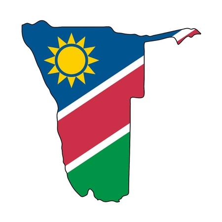 географический: Карта флаг Намибии