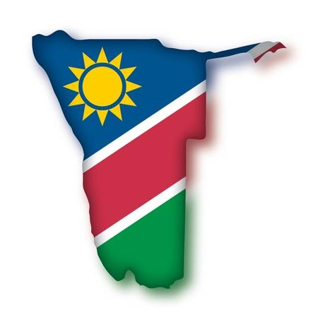 namibia: map flag Namibia Illustration