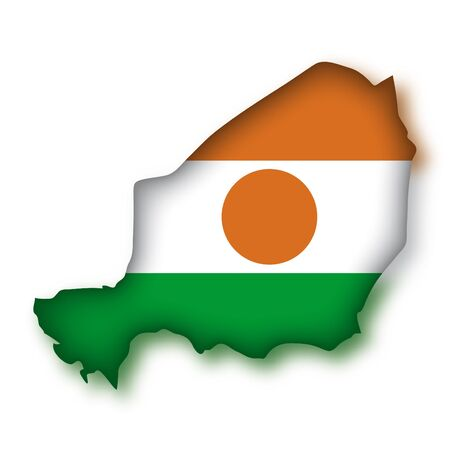 niger: map flag Niger