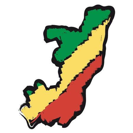congo: map flag Republic of the Congo
