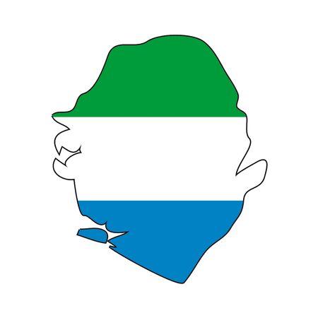 sierra: map flag Sierra Leone