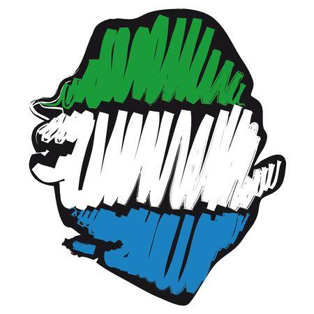 map flag Sierra Leone Stock Vector - 10648685